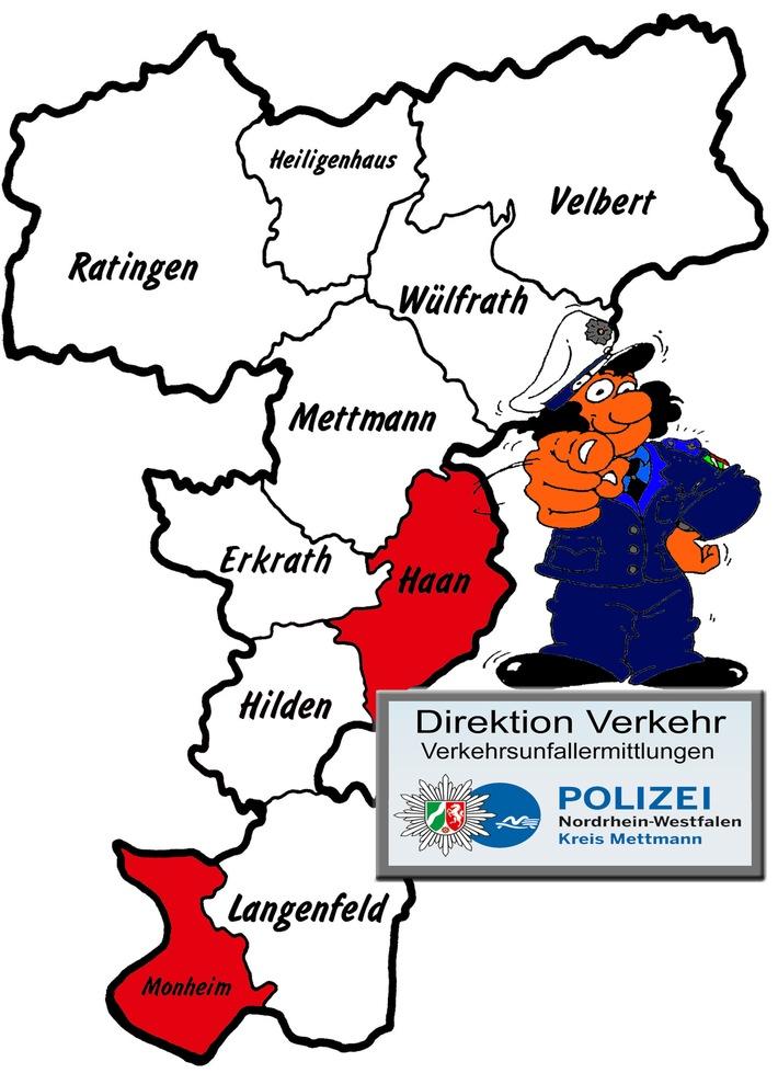 POL-ME: Verkehrsunfallfluchten aus dem Kreisgebiet – Haan / Monheim – 1804119