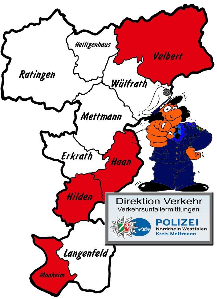 POL-ME: Verkehrsunfallfluchten aus dem Kreisgebiet – Velbert / Haan / Hilden / Monheim – 1804124