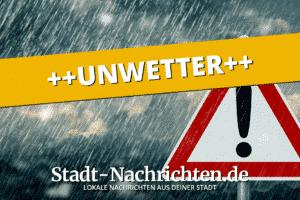 Amtliche UNWETTERWARNUNG vor SCHWEREM GEWITTER mit HEFTIGEM STARKREGEN und HAGEL